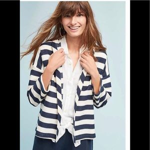 Mo Vint/Anthropologie Striped Jacket Size L